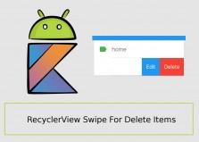 ساخت عملیات swipe حذف آیتم های recyclerview مثل اپ GMAIL